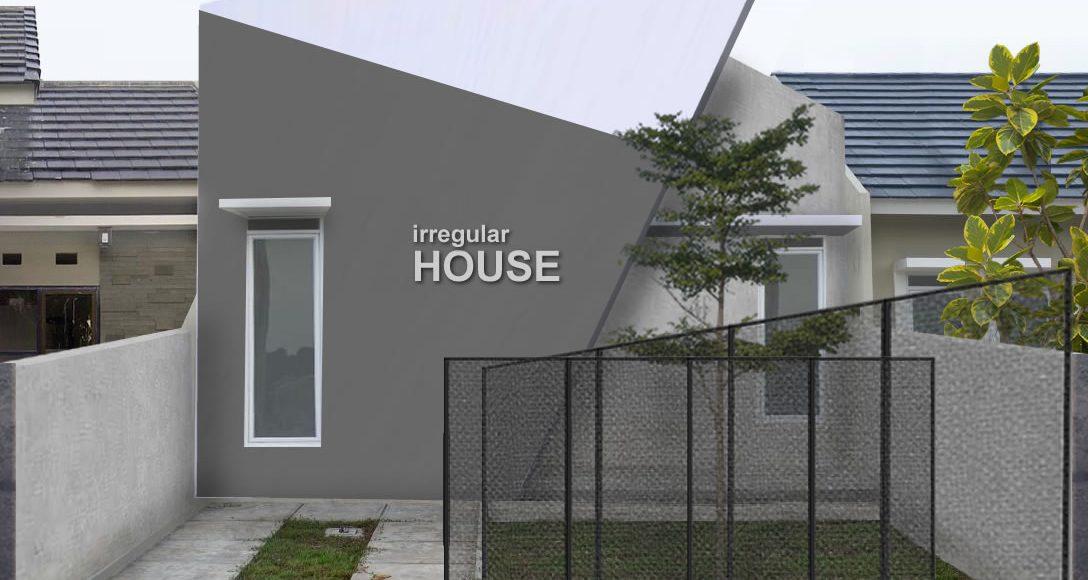 Irregular House, Desain Fasad Unik Sederhana
