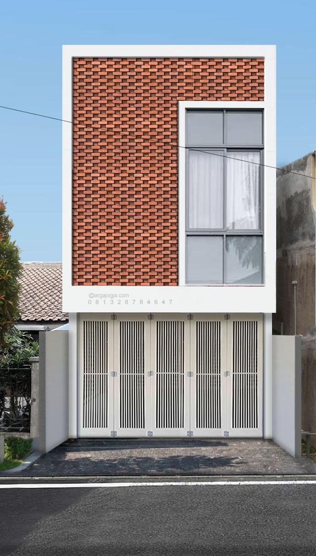 Desain Fasad Ruko Minimalis dengan Bata Ekspos