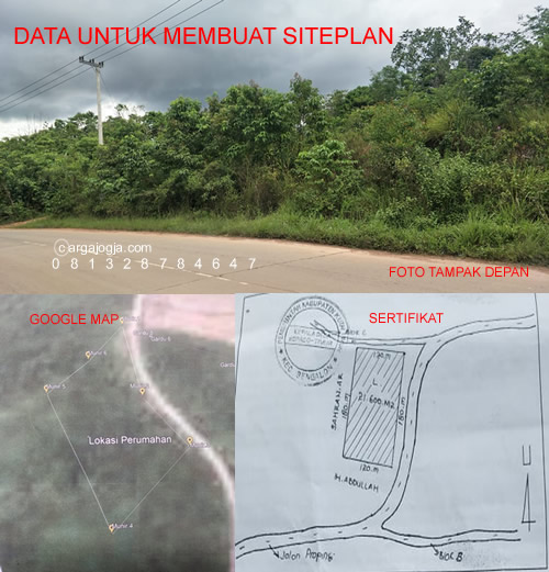 data  membuat siteplan