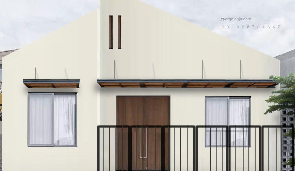 Desain Fasad Simple Minimalis Lahan Tidak Beraturan