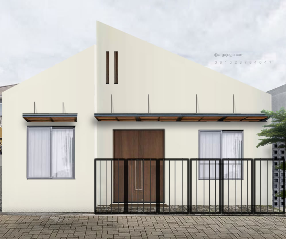 desain rumah sederhana fasad minimalis