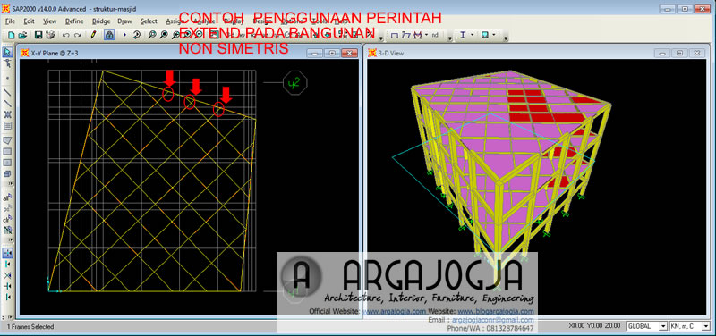 contoh struktur tidak simetris