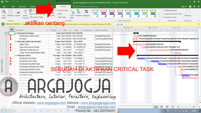 Cara Mengaktifkan Critical Task Pada Ms Project