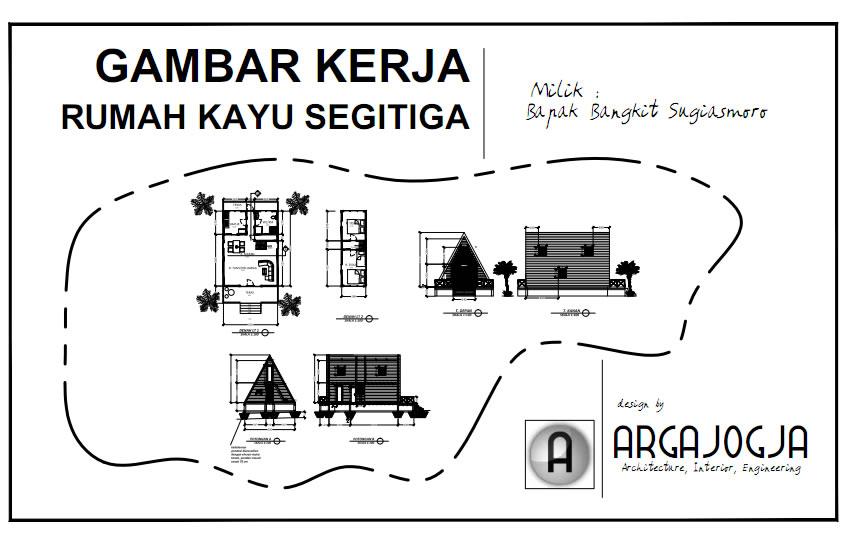 Cover Desain Rumah Kayu Segitiga