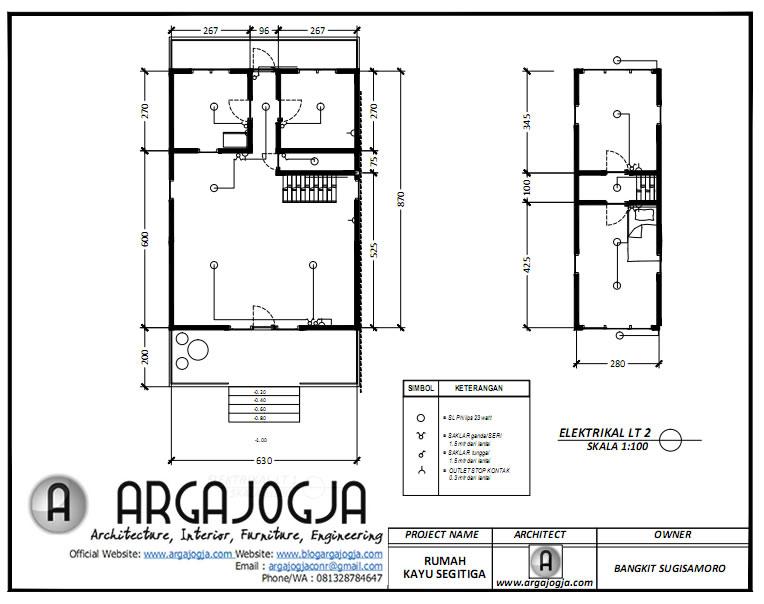 Gambar Kelistrikan Desain Rumah Kayu Segitiga