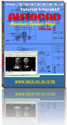 Tutorial Interaktif  AutoCAD membuat Gambar Kerja Rumah Sederhana Vol 1 + Bonus File latihan