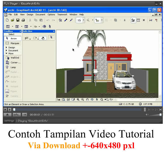 contoh tampilan tutorial via download 640x480px