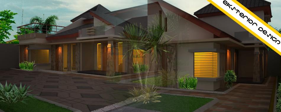 Desain Eskterior Rumah Minimalis Dengan Atap Satu Sisi