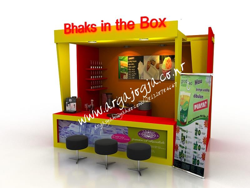 Desain Furniture Stand Booth Makanan dan Minuman