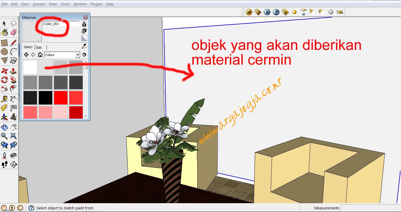 tutorial-cara-membuat-material-cermin-sketchup-8-vray-by-argajogja