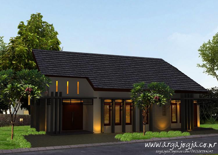 Desain Eksterior Rumah Tropis Modern Minimalis pada Lahan yang Lebar