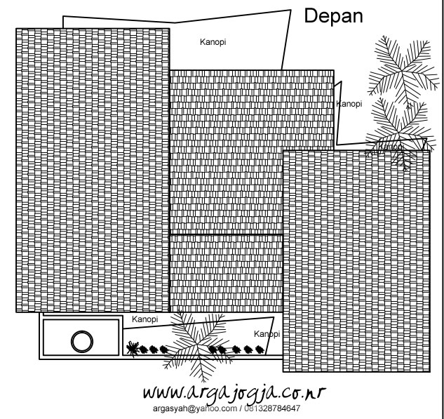 Tampak Atas Fasad Rumah Tropis 2014