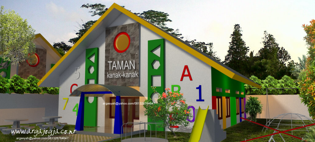 Desain Fasad Sekolah Taman Kanak-Kanak