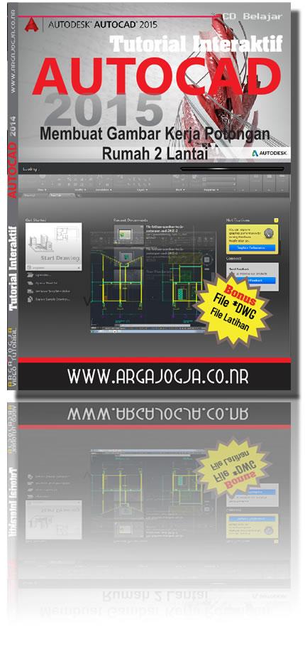 Cover Depan Tutorial AutoCAD 2015 Argajogja