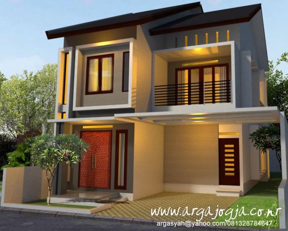 Desain Fasad 2 Lantai Modern Minimalis