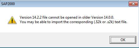 file SAP2000 tidak bisa terbuka