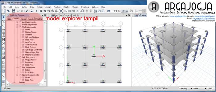 Model Explorer Tampil