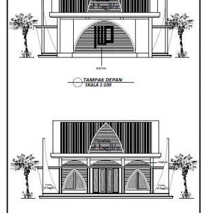 Download Desain Mushola Kecil Minimalis 8X8 Meter