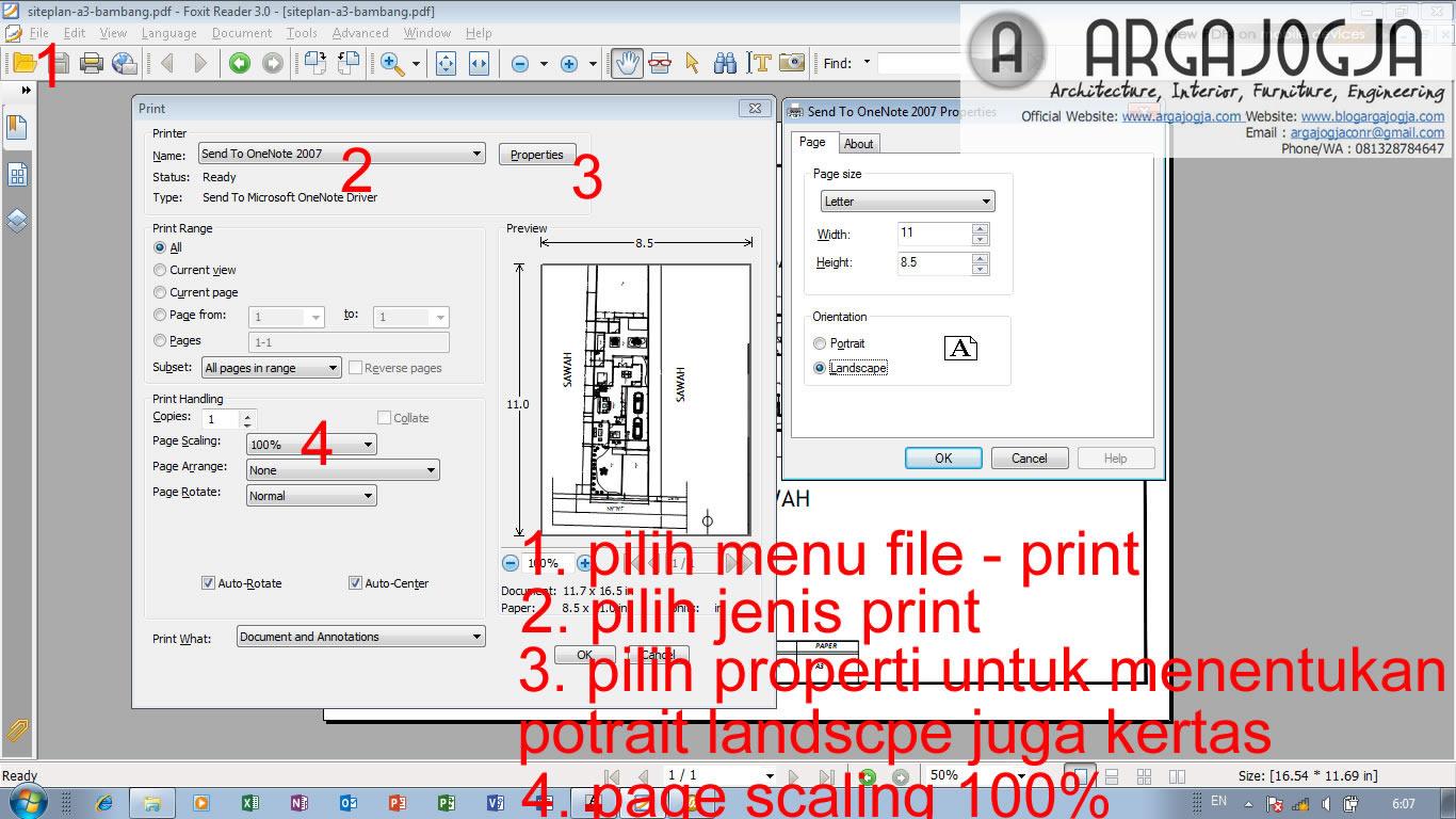 Cara print skalatis PDF