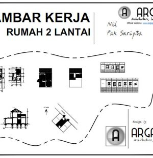 Download Desain Rumah dengan Ruang Usaha Lebar 6 Meter