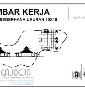 Desain Masjid Tropis Sederhana 10×10 dan Tempat Wudhu + Download