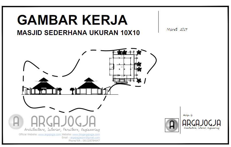 Cover Desain Masjid Tropis 10x10