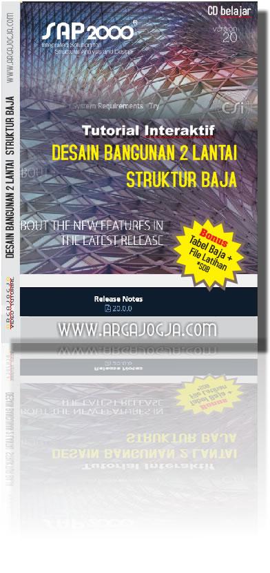 cover depan tutorial desain struktur baja