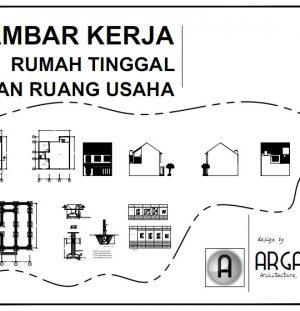 Desain Rumah 2 Lantai dengan Ruang Usaha di Atasnya