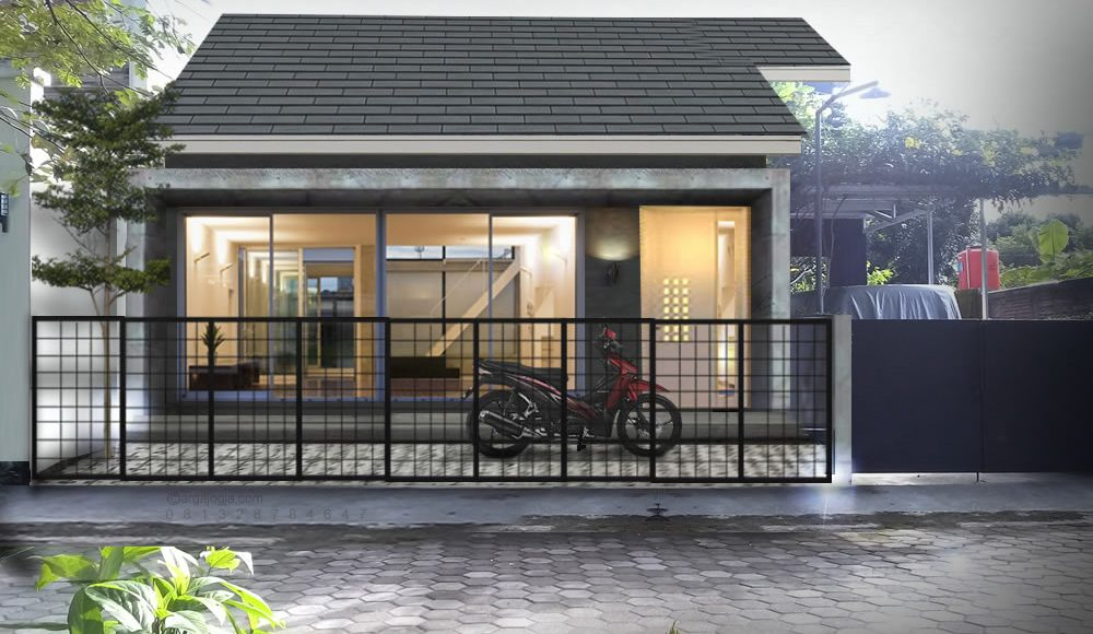 Renovasi Fasad Rumah Minimalis dengan Toko dan Parkir Motor