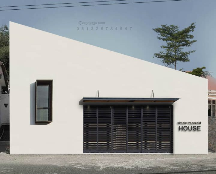 Desain Rumah Sederhana Trapezoid Industrial House