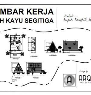 Desain Rumah Panggung Kayu Segitiga Unik Minimalis