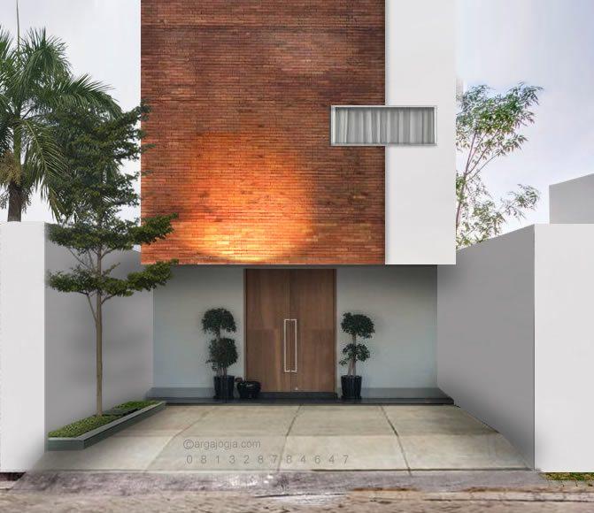 Desain Fasad Rumah 2 Lantai Lebar Kecil